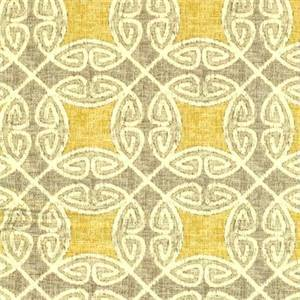 Ferro Sussex Pearl Gray Geometric Drapery Fabric By Swavelle