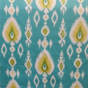 Dawkins Twill Turquoise Blue Cotton Ikat Drapery Fabric by Swavelle Mill