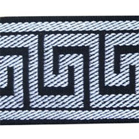Greek Key Kaspar Black Braid Tape Trim
