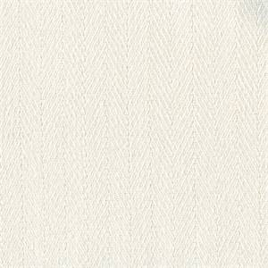 Meridian Snow White Herringbone Indoor/ Outdoor Fabric by Al Fresco