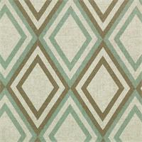 Annie Eaton Blue/Kelp Linen by Premier Prints - Drapery Fabric