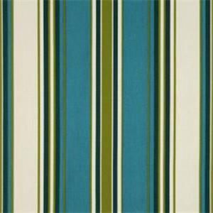 Tottenham Twill Capri Blue Stripe Drapery Fabric By Swavelle