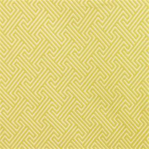 M9729 Sunshine Yellow Woven Greek Key Upholstery Fabric by Barrow Merrimac