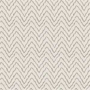 Window's Tide Pewter Embroidered Ikat Stripe Drapery Fabric