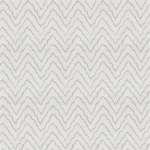 Widow's Tide Stream Blue Ikat Stripe Drapery Fabric