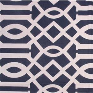 Integrate Cadet Blue Geometric Cotton Drapery Fabric by Richloom
