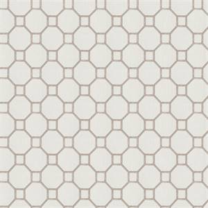 Westview MV Pewter Gray Embroidered Geometric Drapery Fabric