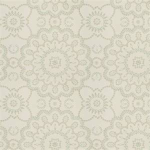 Seed Pearls MV Stream Blue Tan Embroidered Floral Dot Cotton Drapery Fabric
