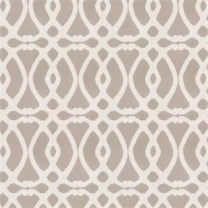 Marshall Lattice MV Pewter Grey Embroidered Geometric Design Drapery Fabric