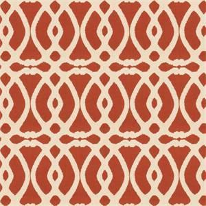 Marshall Lattice MV Cinnamon Orange Embroidered Geometric Design Drapery Fabric