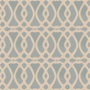 Marshall Lattice MV Stream Blue Embroidered Geometric Design Drapery Fabric