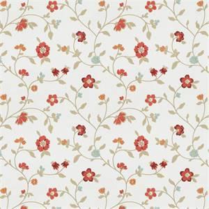 Grove S Villa Mv Garden Red Floral Embroidered Drapery Fabric