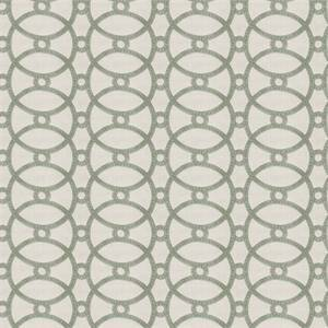 Gristmill MV Stream Green Embroidered Geometric Drapery Fabric