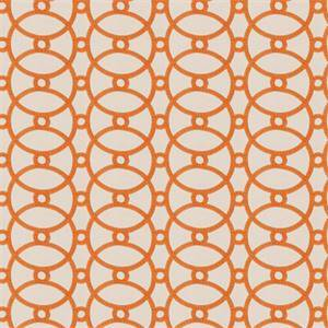 Gristmill MV Orange Blossom Orange Embroidered Geometric Drapery Fabric