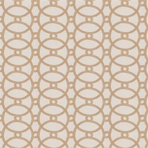Gristmill MV Hemp Tan Embroidered Geometric Drapery Fabric