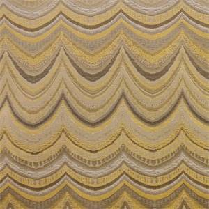 Travis Limonc Yellow Gray Woven Loop Stripe Upholstery Fabric by Richloom