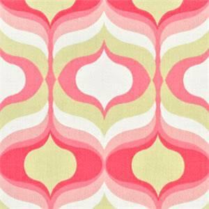 Hourglass Blossom Pink Geometric Cotton Drapery Fabric by Waverly
