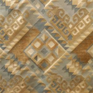 Yukon Seaside Blue Geometric Upholstery Fabric By Richloom