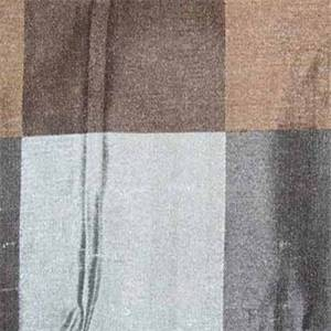 Ankara Square Teal Faux Silk Drapery Fabric