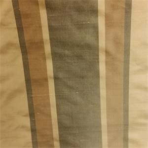 Damon Antique Gold Gray Stripe Silk Fabric
