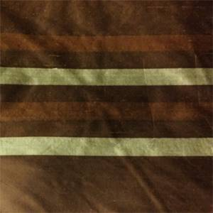 2043-C Dark Brown Green  Stripe Silk Fabric