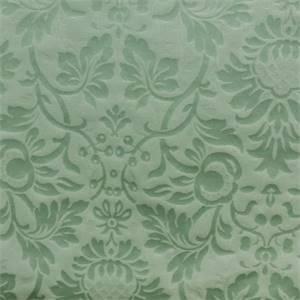 Jameson Aqua Blue Floral Jacquard Faux Silk Drapery Fabric