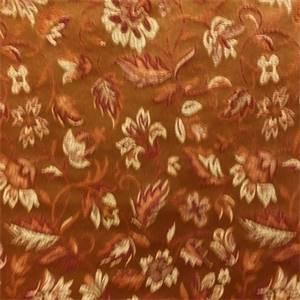 Chopin Brick Floral Drapery Fabric