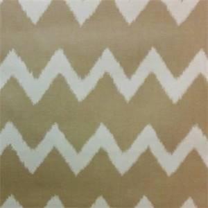 Ziggy Linen Ikat Chevron Drapery Fabric