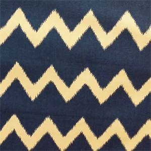 Ziggy Blue Ikat Chevron Drapery Fabric