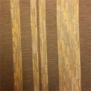 Stria Stripe Cocoa Brown Faux Silk Fabric