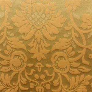 Jamison Lichen Green Jacquard Floral Faux Silk Fabric
