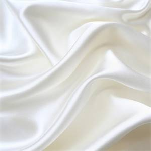 Solid White Faux Silk Fabric