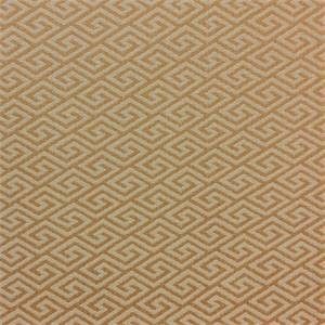 Pennline Butter Orange Greek Key Woven Upholstery Fabric by Richloom