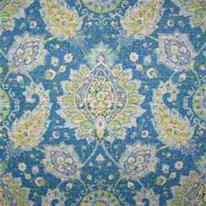 Cadogan Oasis Blue Floral Drapery Fabric by Richloom