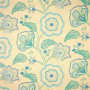 Cimmaron Cobalt Blue Floral Drapery Fabric by Richloom