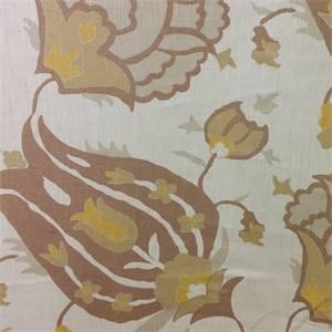 Turkish Flower Bronze Floral Fabric