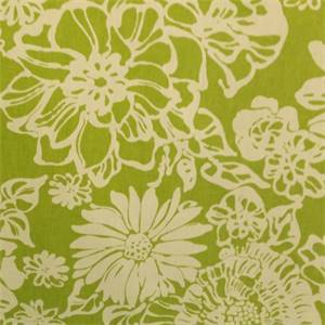 Derek Floral Green Drapery Fabric