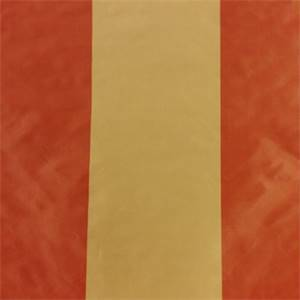 Stripes Gold and Red Faux Silk Drapery Fabric