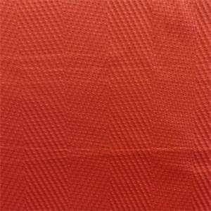 Wave Length Koi Red Herringbone Multipurpose Fabric by P Kaufmann