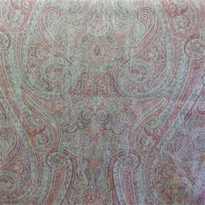Faded Memories Pompeii Pink Paisley Linen Fabric by P. Kaufmann