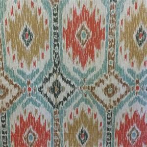 Poncho Geyser Blue Ikat Drapery Fabric by P Kaufmann