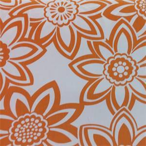 Full Bloom Orange Floral Cotton Drapery Fabric by Richtex Premium Prints