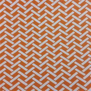 Rian Orange Basket Design Cotton Drapery Fabric by Richtex Premium Prints