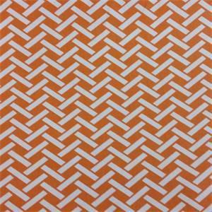 Rian Orange Basket Design Cotton Drapery Fabric by Richtex Premium Prints