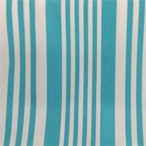 Piper Turquoise  Stripe Cotton Drapery Fabric by Richtex Premium Prints