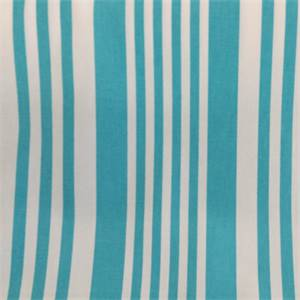Piper Turquoise Stripe Cotton Drapery Fabric By Richtex