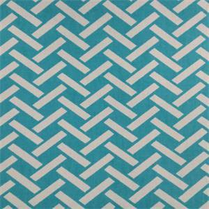 Rian Turquoise Basket Design Cotton Drapery Fabric by Richtex Premium Prints