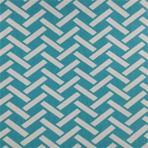Rian Turquoise Basket Design Cotton Drapery Fabric by Richtex Premium Prints