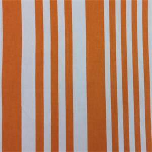 Piper Orange  Stripe Cotton Drapery Fabric by Richtex Premium Prints
