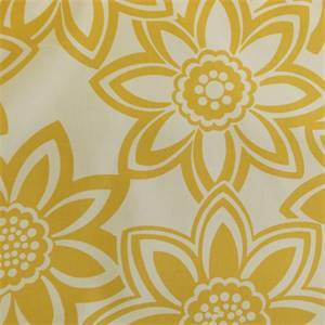 Full Bloom Maize Yellow Floral Cotton Drapery Fabric by Richtex Premium Prints